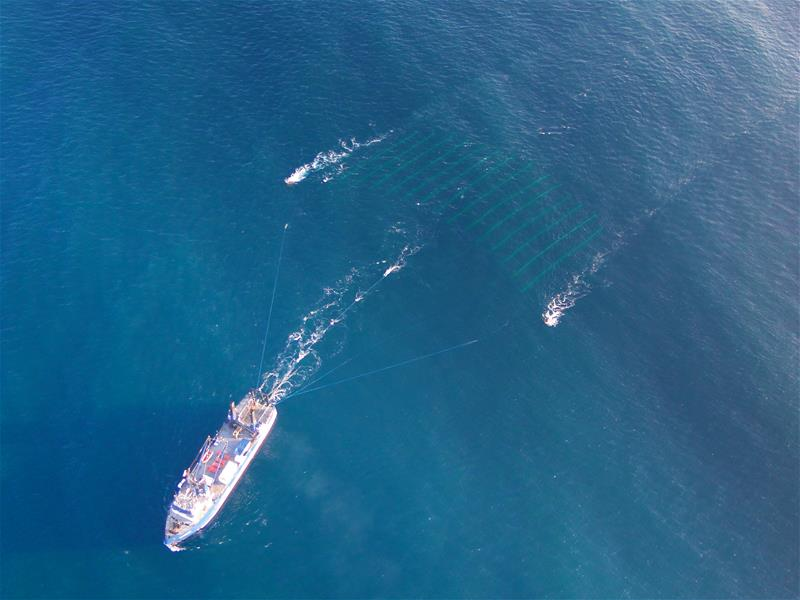 P-Cable Deployed - Aerial Image