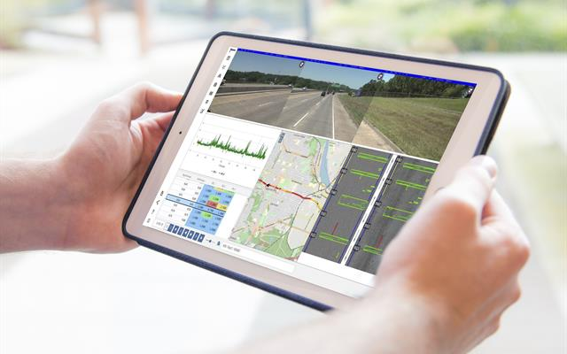 Roadware iVision app on tablet