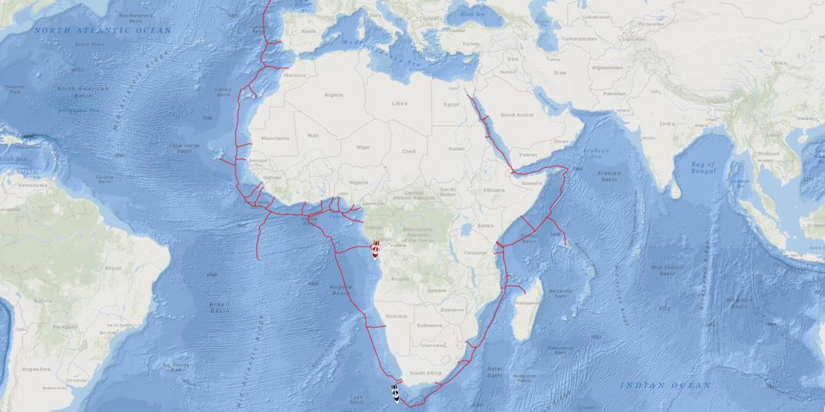 2Africa cable route