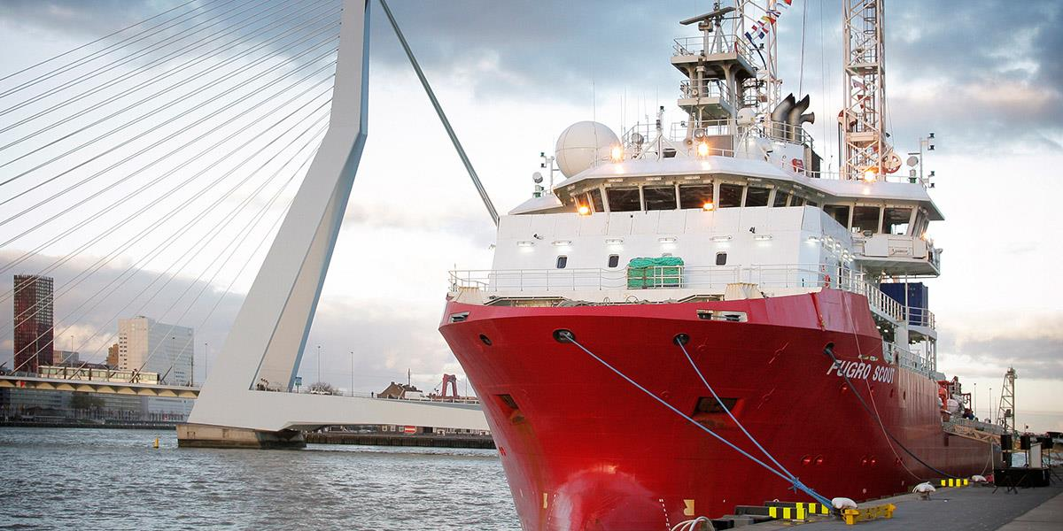 Fugro Scout DP2 geotechnical drill ship
