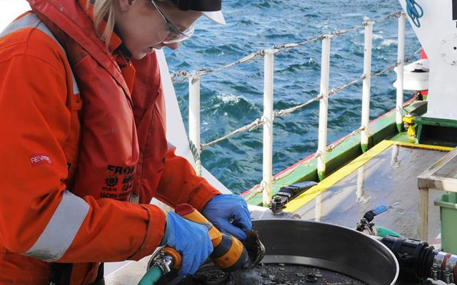 Seabed sampling offshore Angola