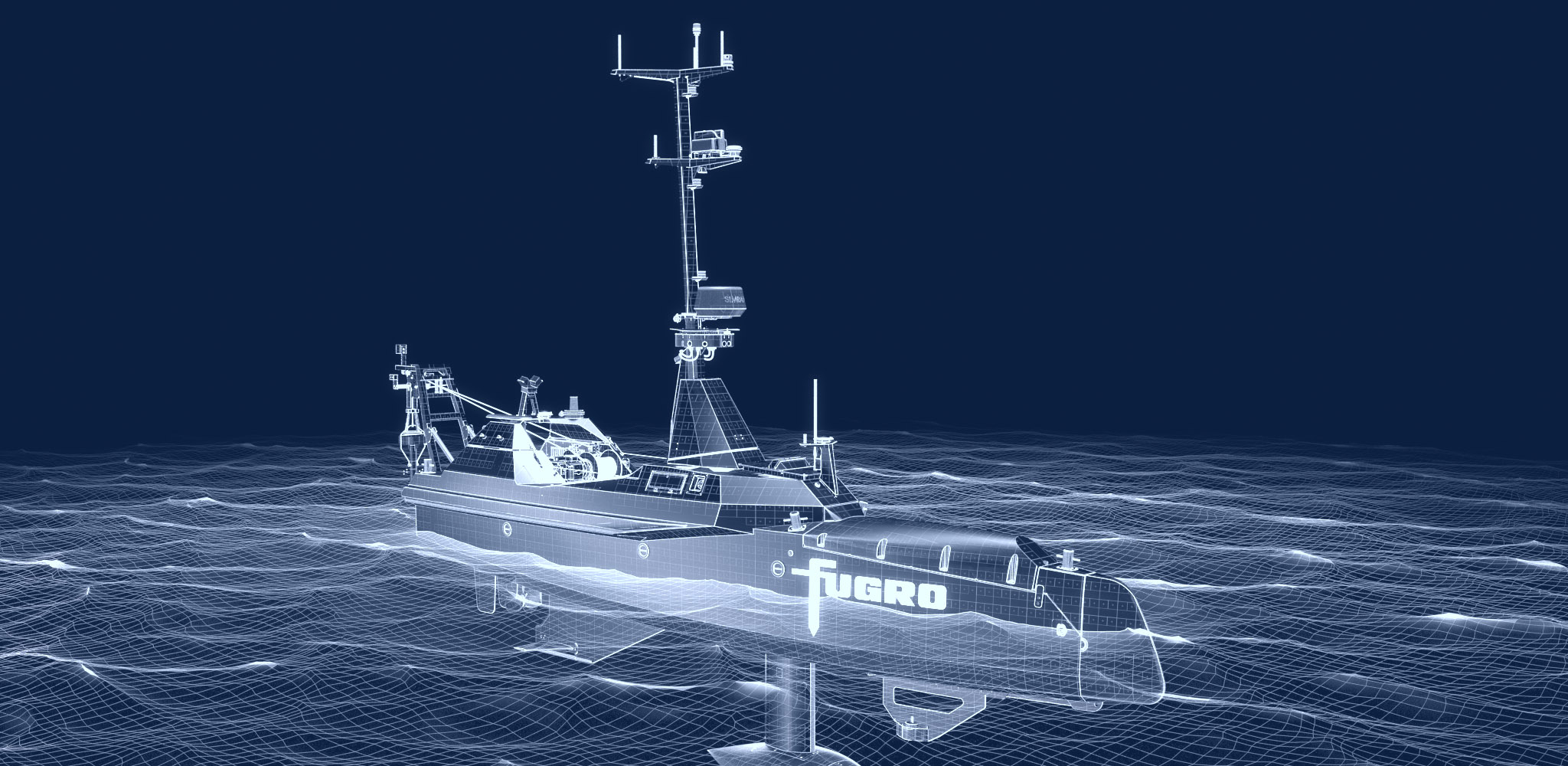 Fugro Blue Shadow autonomous and uncrewed surface vessel for hydrographic surveys
