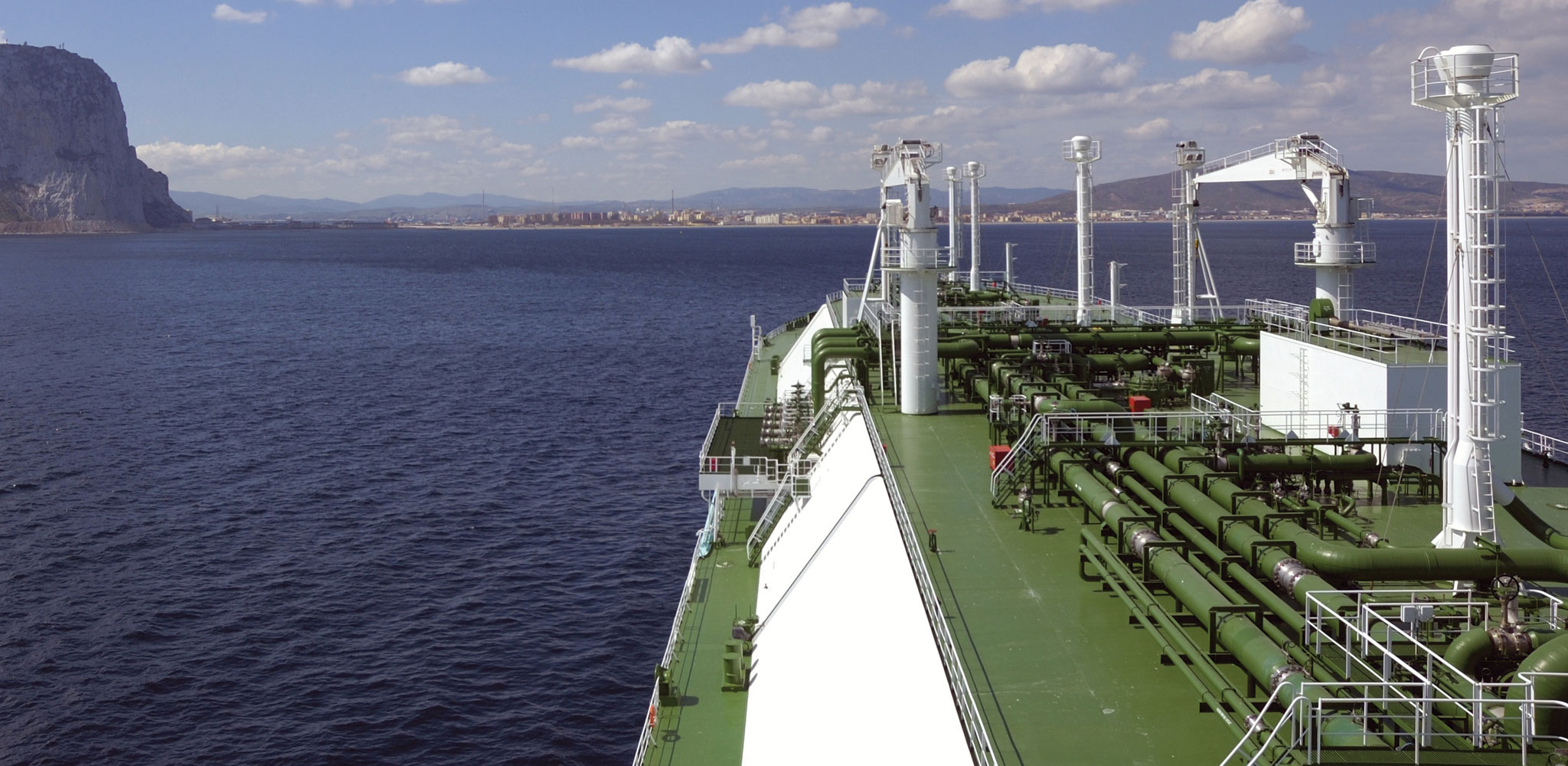 An Oil Tanker coming into port